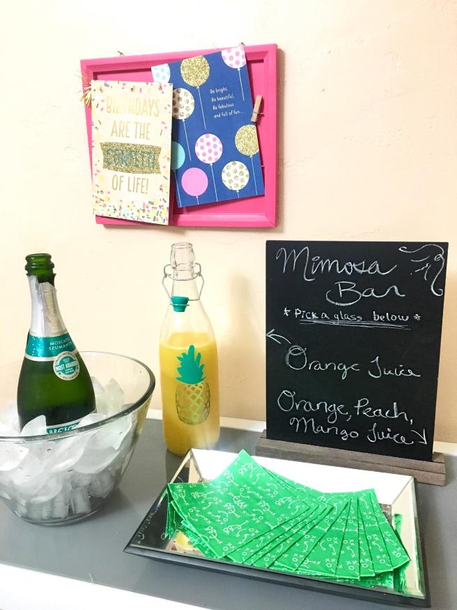 Sunday Funday Football Birthday Party - Mimosa Bar
