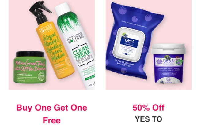 Ulta Black Friday Sale: Buy 1, Get 1 Free Not Your Mother's Haircare & 50% OFF Yes To