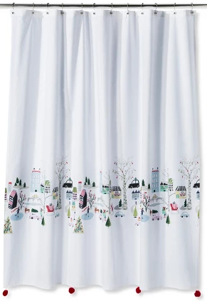 Holiday Home Decor Deals:  Winter Scene Shower Curtain