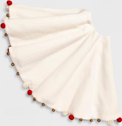 Holiday Home Decor Deals: Tree Skirt w/ Pom Poms & Bells